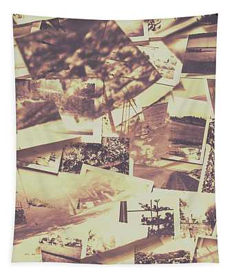 Vintage Photo Design Abstract Background Tapestry