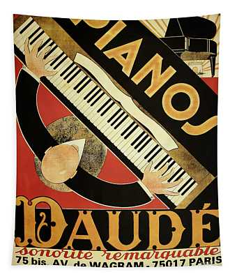 Vintage Piano Art Deco Tapestry