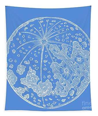 Vintage Planet Tee Blue Tapestry
