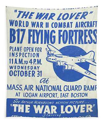 Vintage Poster For The War Lover Aircraft Exhibition Tapestry