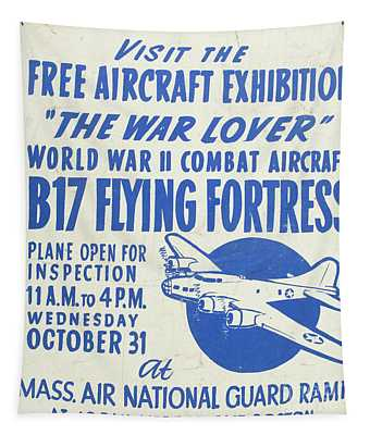 Vintage Poster For The War Lover Aircraft Exhibition II Tapestry
