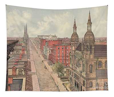 Vintage Print Of Fifth Avenue From 42nd Street In New York City, Looking North, 1904 Tapestry