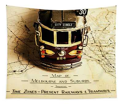 Vintage Railways And Tramways Tapestry
