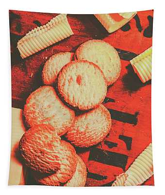 Vintage Rich Butter Shortcake Cookies Tapestry