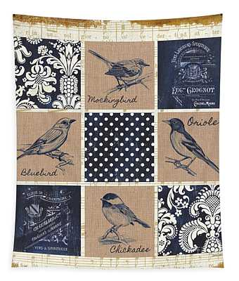 Vintage Songbird Patch 2 Tapestry
