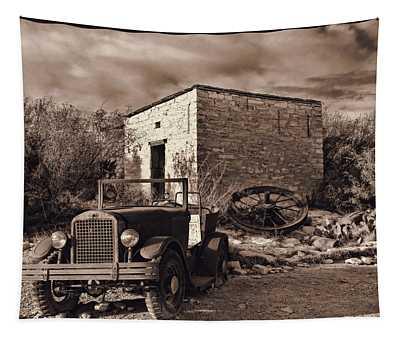 Vintage Terlingua Ghost Town Tapestry
