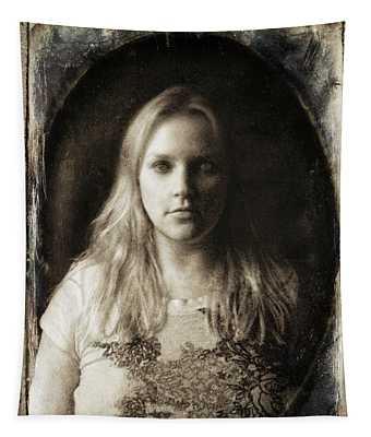 Vintage Tintype Ir Self-portrait Tapestry
