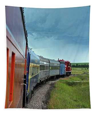 Vintage Train Tapestry