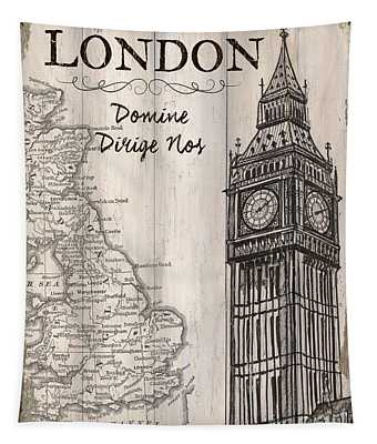 Vintage Travel Poster London Tapestry