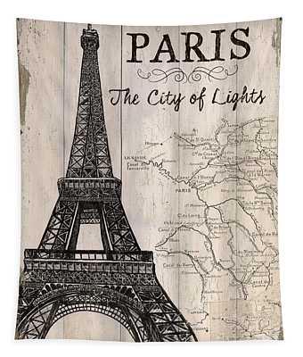 Vintage Travel Poster Paris Tapestry