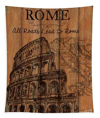 Vintage Travel Rome Tapestry