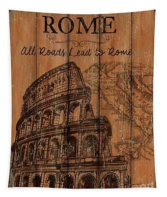 Vintage Travel Rome Tapestry