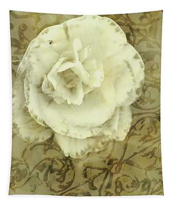 Vintage White Flower Art Tapestry