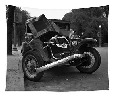 Vintage Wrecked Automobile - Circa 1933 Tapestry