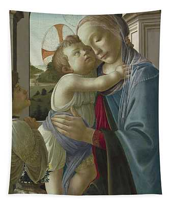 Virgin And Child With An Angel Tapestry