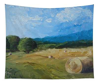 Virginia Hay Bales II Tapestry