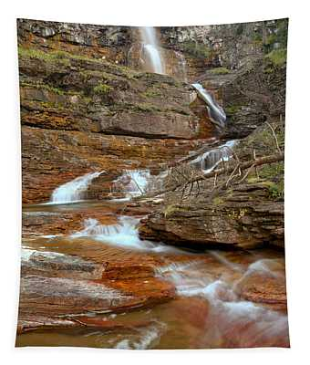 Virginia Red Rock Falls Tapestry