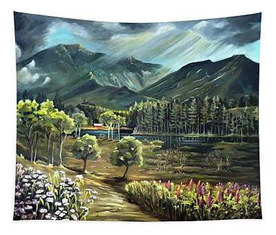 Vista View Of Cannon Mountain Tapestry