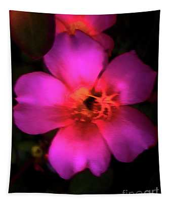 Vivid Rich Pink Flower Tapestry