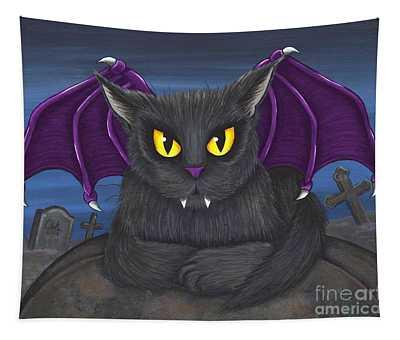 Vlad Vampire Cat Tapestry