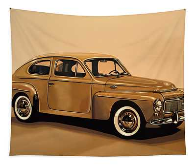 Volvo Pv 544 1958 Painting Tapestry
