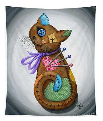 Voodoo Cat Doll - Patchwork Cat Tapestry