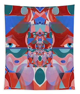 Abstract Vortex In Red Tapestry