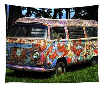 Vw Psychedelic Microbus Tapestry
