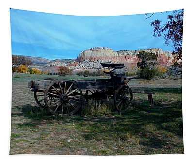 Tapestry featuring the photograph Wagon And Kitchen Mesa by Joseph R Luciano