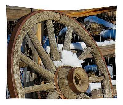 Wagon Wheel 1 Tapestry
