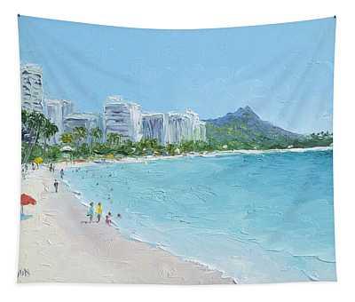 Waikiki Beach Honolulu Hawaii Tapestry