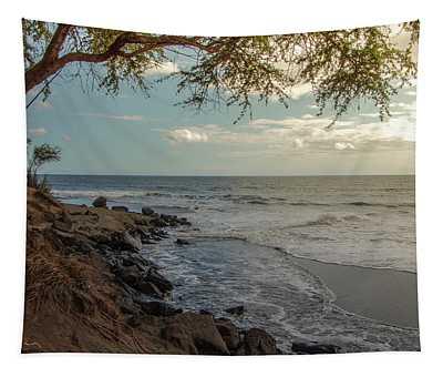 Waimea Bay Sunset Tapestry