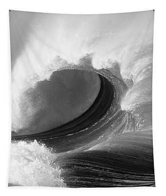Waimea Bay Wave - Bw Tapestry