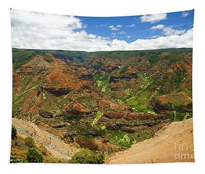 Waimea Canyon And Blue Sky Tapestry
