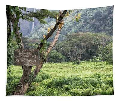 Waipio Valley Road Rules Tapestry
