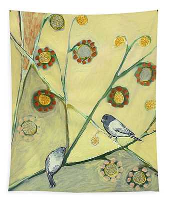 Waiting For The Dance Of Spring Tapestry