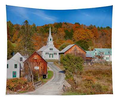 Waits River Church In Autumn Tapestry