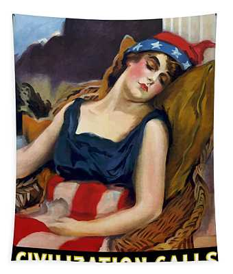 Wake Up America - Civilization Calls Tapestry