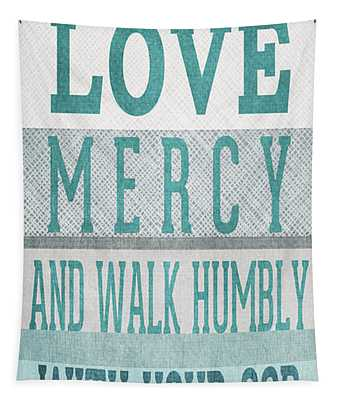 Walk Humbly- Tall Version Tapestry