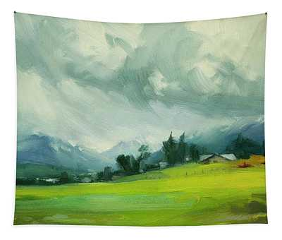 Wallowa Valley Storm Tapestry