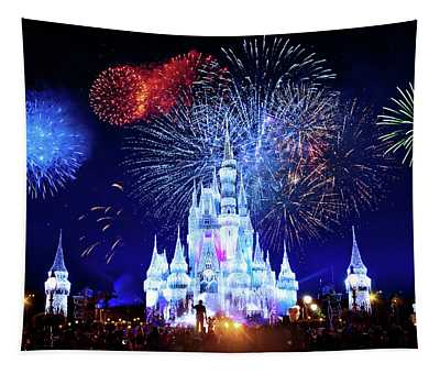 Walt Disney World Fireworks  Tapestry