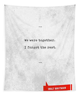 Walt Whitman Quotes - Literary Quotes - Book Lover Gifts - Typewriter Quotes - Love Quotes Tapestry