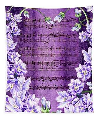 Waltz Of The Flowers In Purple Tapestry