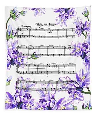 Waltz Of The Flowers Purple Dance Tapestry