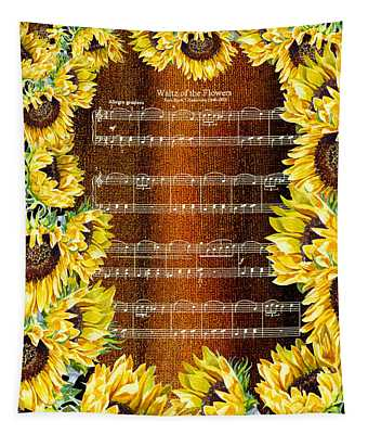 Waltz Of The Flowers Sunflowers Tapestry