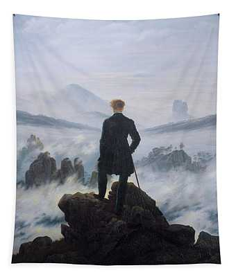 Wanderer Above The Sea Of Fog Tapestry