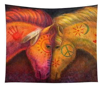 War Horse And Peace Horse Tapestry