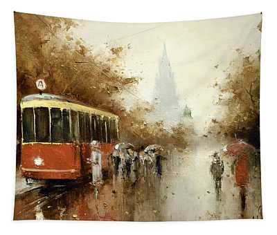 Warm Moscow Autumn Of 1953 Tapestry