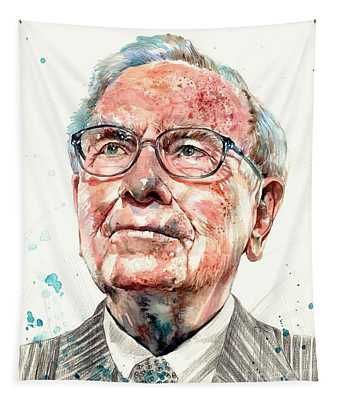 Warren Buffett Portrait Tapestry