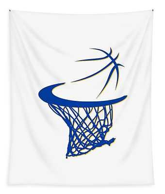 Warriors Basketball Hoop Tapestry